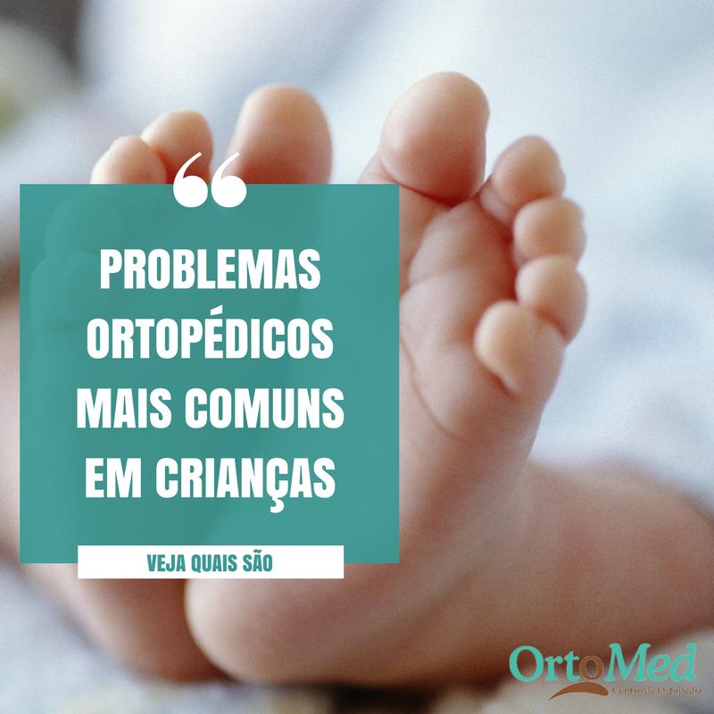 Identificar problemas ortopédicos em crianças é muito importante